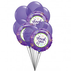 Purply (6 Latex- und 3-Mylar-Ballons)