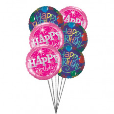 Birthday Greeting balloons (6 Latex & 3 Mylar Balloons)