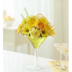 Zitrone Martini Blumenstrauß (klein)