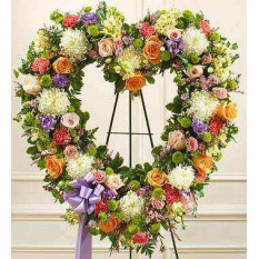 Immer erinnern Floral Heart Tribute - Pastell