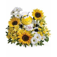 Biene Brunnen Bouquet (Deluxe)