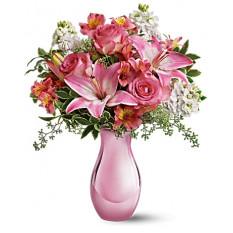 Rosa Reflexionen Blumenstrauß mit Rosen (Deluxe)