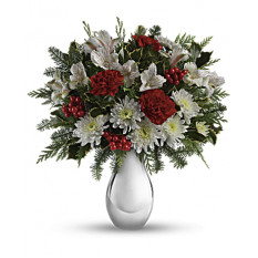 Silver And Snowflakes Bouquet (Standard)
