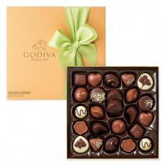 Godiva verzierte Goldbox, 24-tlg