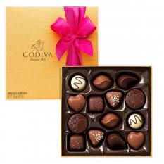 Godiva verzierte Goldbox, 14-tlg
