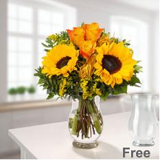 Blumenstrauß Vincent mit Vase