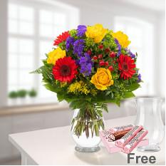 Blumenstrauss Blütenfee mit Vase
