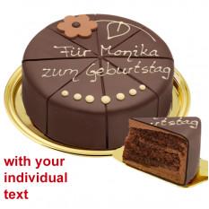 Herrlicher Nachtisch-Schokoladenkuchen, kann beschriftet werden