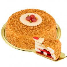 Nachtisch-Haselnuss-spröder Kuchen