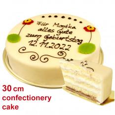 Großer Lübecker Marzipan Kuchen mit individuellem Text