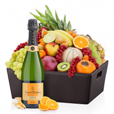 Leder Exotic Fruit Hamper und Veuve Clicquot
