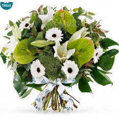 Trias White Sparkle Bouquet - Groß (35 cm)