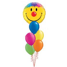 Riesiger glücklicher Lächeln-Gesichts-Blumenstrauß