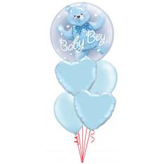 Es ist ein Junge Bär Doppel Bubble Baby Bouquet