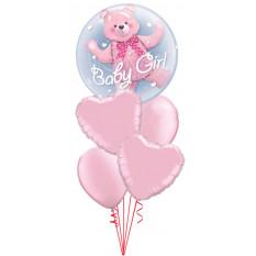 Es ist ein Mädchen Bär Doppel Bubble Baby Bouquet