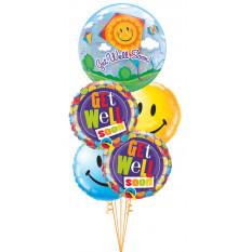 Gute Besserung Kite Bubble & Smiles Bouquet