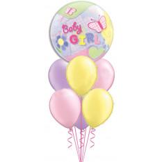 Baby Girl Blase & Pastell Blumenstrauß