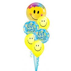 Holen Sie sich gut gelbes Lächeln Strauß