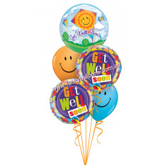 Gute Besserung Smiley Kite Bouquet