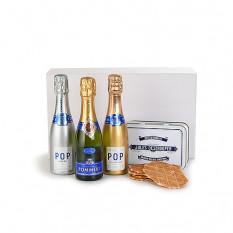 Pommery Champagne Trio und Jules Destrooper