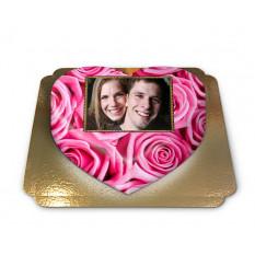 Kuchen-Foto rosa herzförmig rosa (Mittel)