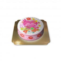 Kuchen Herzen und Küsse (Mittel)
