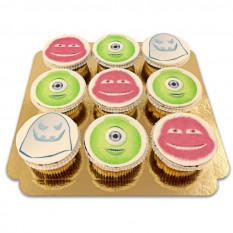 9 Monster mit kleinen Kuchen