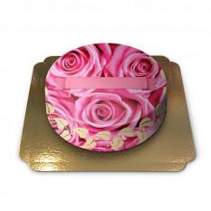 Kuchen mit Rosen verziert (klein)