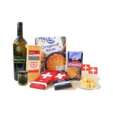 Schweizer Geschenkkorb mit Käse