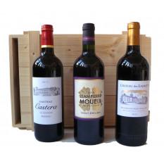 Geschenkbox aus Bordeauxperlen