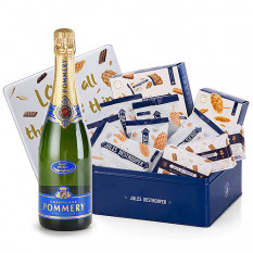 Pommery Brut und Jules Destrooper Office Box