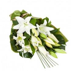 Weiße orientalische Lilien (5 Stiele)