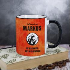Persönliche Kaffeetasse für den Feuerwehrmann