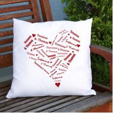 Kissen mit dem Herzen der Liebhaber
