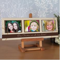 Segeltuch-Collage 60 x 20 Cm mit 3 Ihrer schönsten Fotos