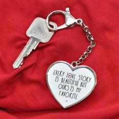 Schlüsselanhänger - Jede Liebesgeschichte - mit deinem Namen