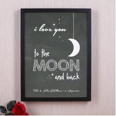Bilderrahmen - ich liebe dich bis zum Mond und zurück