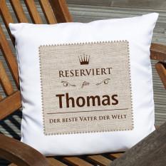 Reserved-Kissen mit Namen und benutzerdefinierten Text