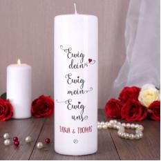 Everlasting, Everlasting, Everlasting Us - Kerze mit Namen für Hochzeit oder Hochzeitstag