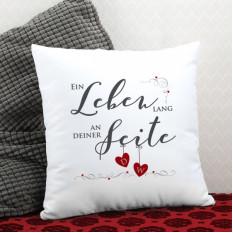 Ein Leben lang an deiner Seite - Kissen mit den Initialen des Paares