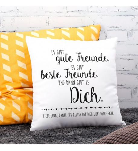 Kissen für den besten Freund mit Wunschtext