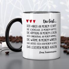 Tasse mit Liebeserklärung und Ihrem Wunschtext
