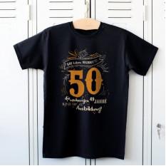 Das Leben beginnt mit 50 - T-Shirt für den Geburtstag