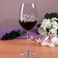 "Weinglas ""Beste Mama"""