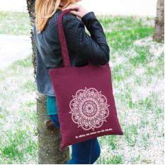 Tasche in 6 Farben mit Mandala und Wunschtext