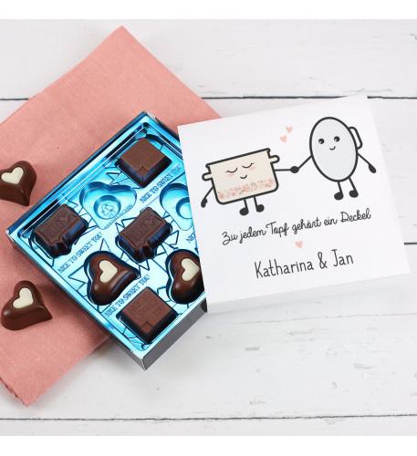 Lindt Pralinen mit Topf und Deckel für Liebhaber