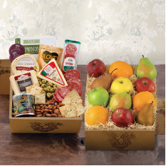Fruit & Cheese Bonanza Doppeldecker-Geschenkbox
