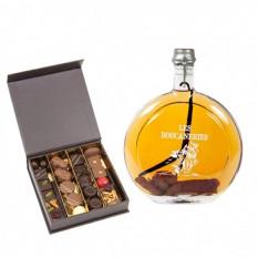 Mit Kakao arrangierte Pralinen und Rum (Anzahl Pralinen 25)