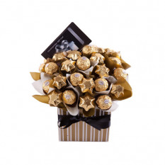 Schenken - Schoko Bouquet Geschenkkorb