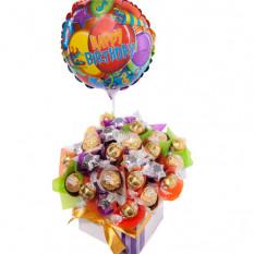 Geburtstags-Wünsche - Schokoladen-Korb